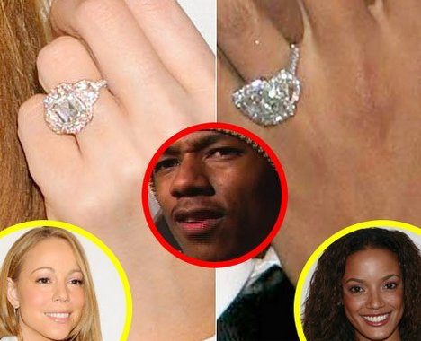 word circulating the gossip rags today is that mariah careys massive rock courtesy of her new engagement to nick cannon is actually the same ring that - Mariah Carey Wedding Ring
