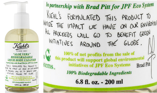 brad pitt body cleanser