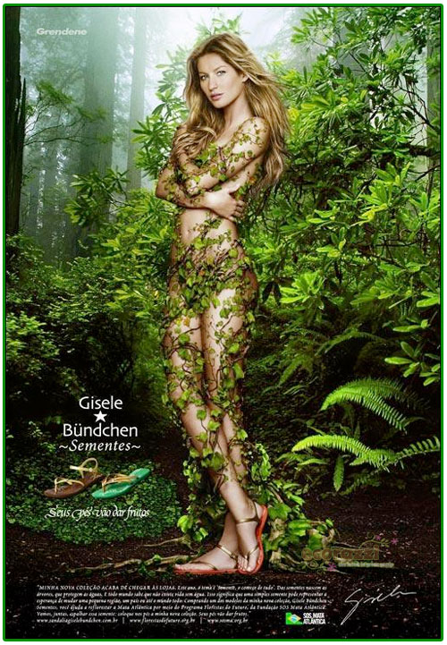 Gisele Bundchen Naked in Ad to Save Atlantic Forest