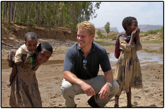 matt damon, india, water