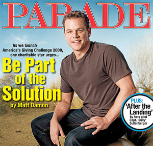 matt damon, parade, charity