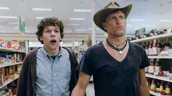 zombieland, woody harrelson, zombies, movie