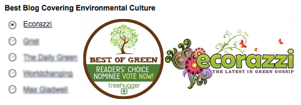 treehugger, nomination, best of green