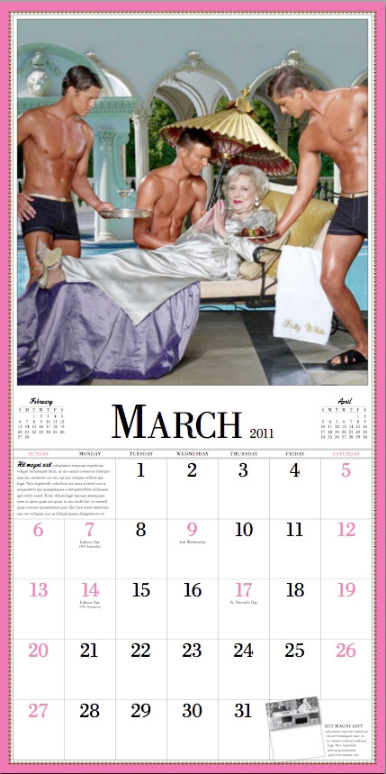 betty white calendar