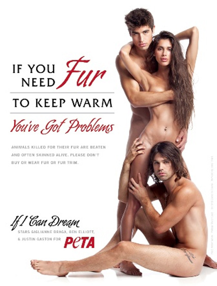 justin gaston, miley cyrus, nude, peta