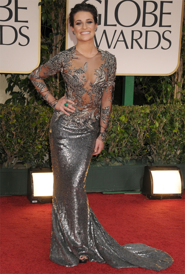 Lea Michele at the 2012 Golden Globe Awards