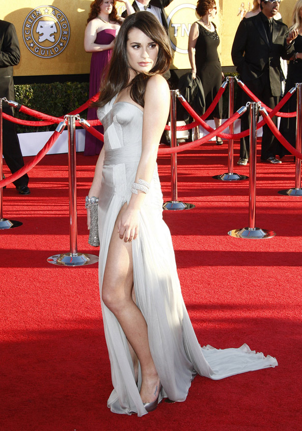 Lea Michele at the 2012 SAG Awards in Versace