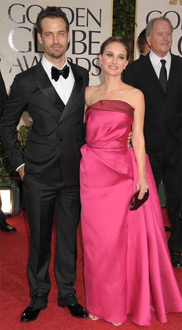 Natalie Portman in Lanvin for the 2012 Golden Globes Awards