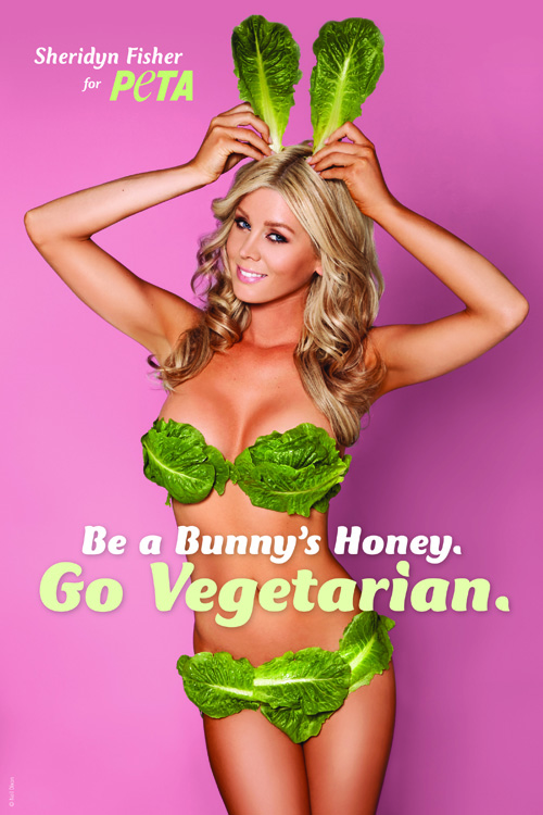 Sheridyn Fisher's new PETA ad is proof that a vegetarian diet leads to a great-looking body.