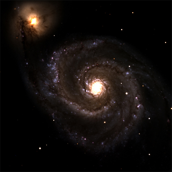 The Discovery Channel Telescope captures The Whirlpool Galaxy