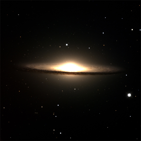 Discovery Channel Telescope captures the Sombrero Galaxy