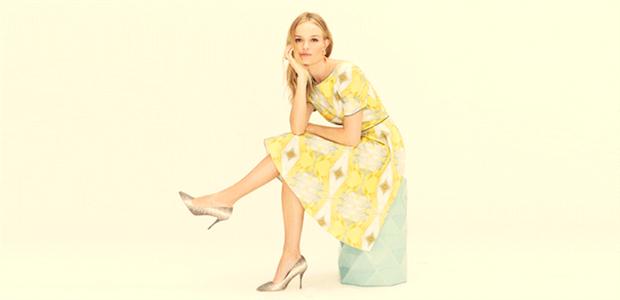 Kate Bosworth models a CrOp dress.