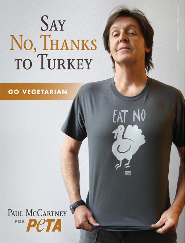 paul mccartney turkey tee peta