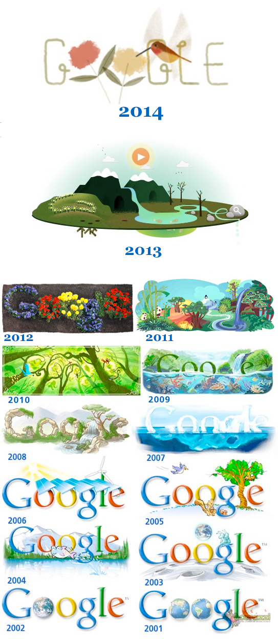 Google Earth Day Logos